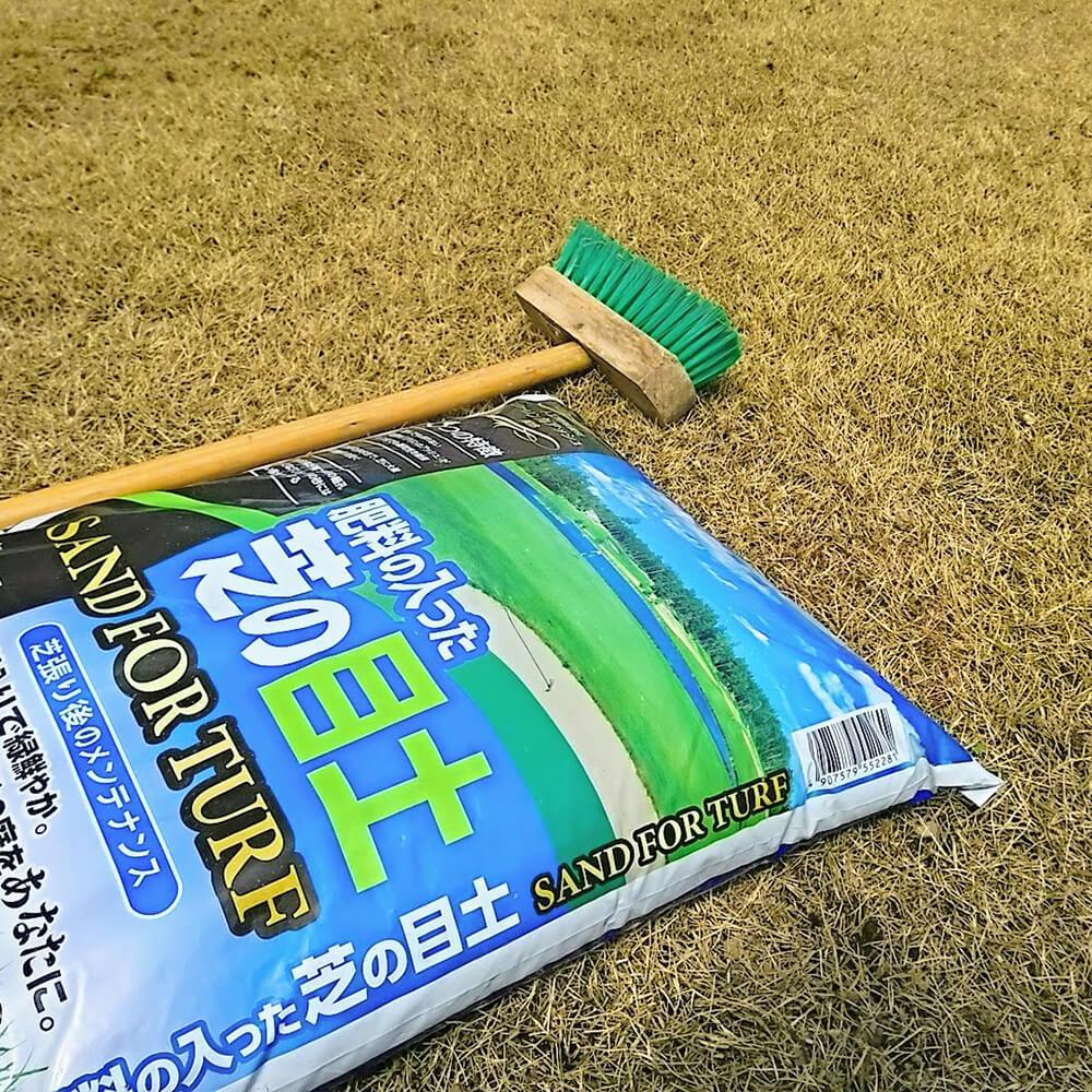 芝生の目土