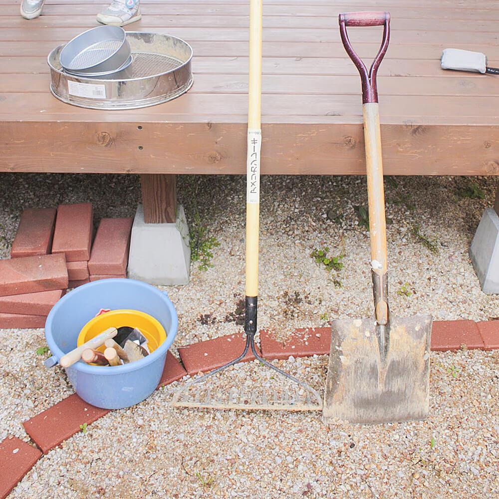 床土つくりに必要な道具