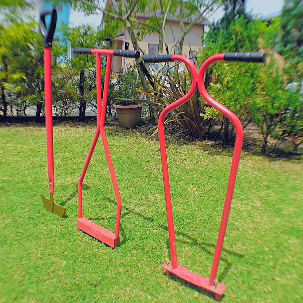 芝生の道具3種類